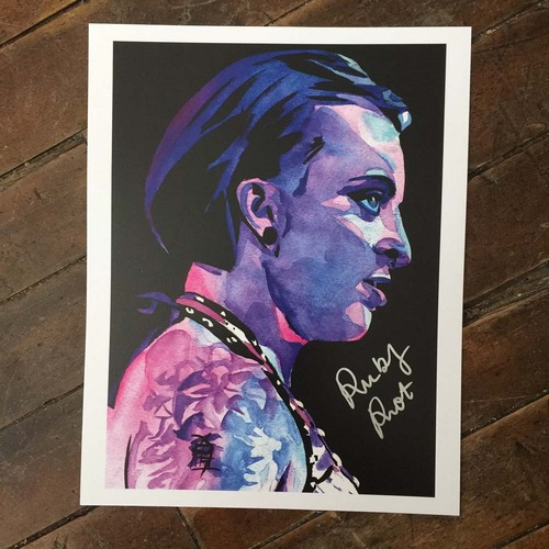 Ruby Riot SIGNED 11 x 14 Rob Schamberger Print