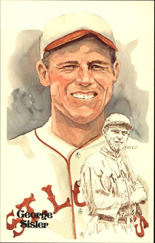 Photo of 1980-02 Perez-Steele Hall of Fame Postcards #25 George Sisler -- HOF Class of 1939