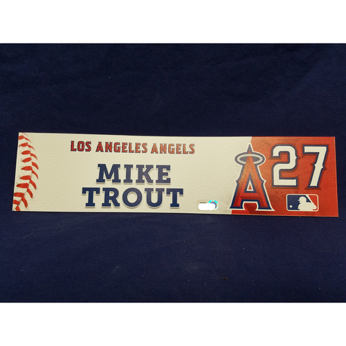 Photo of Mike Trout Team-Issued Locker Tag