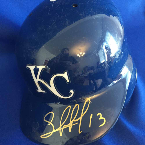 Photo of UMPS CARE AUCTION: Salvador Perez Signed Batting Helmet - Not MLB Authenticated