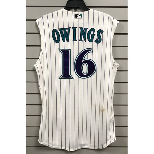 Photo of Chris Owings Game-Used 2015 Throwback Jersey