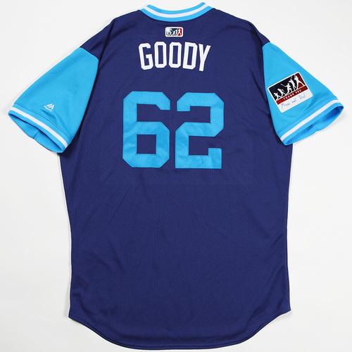 """Photo of Erik """"Goody"""" Goeddel Los Angeles Dodgers Team-Issued 2018 Players' Weekend Jersey"""