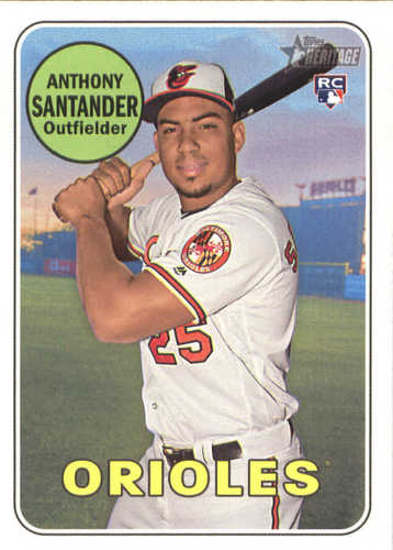 Photo of 2018 Topps Heritage #640 Anthony Santander RC