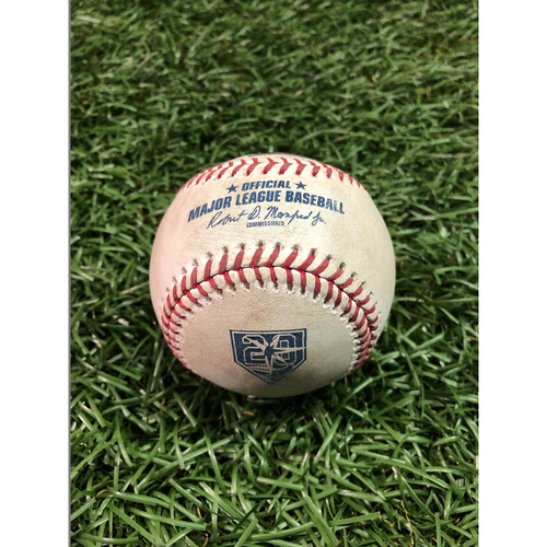 Photo of 20th Anniversary Game Used Baseball: Lucas Duda double off Adam Kolarek - August 21, 2018 v KC
