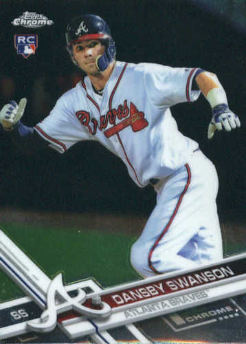 Photo of 2017 Topps Chrome #8A Dansby Swanson Rookie Card