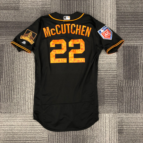 Photo of 2018 Game Used Spring Training Jersey - worn by #22 Andrew McCutchen on 3/27/18 vs. OAK - size 42