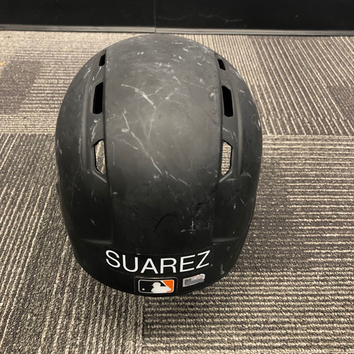 Photo of 2017 Game Used Batting Helmet Worn by #56 Albert Suarez - Size 7 1/2