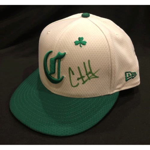 Connor Joe -- Autographed & Game-Used Cap -- 2019 St. Patrick's Day
