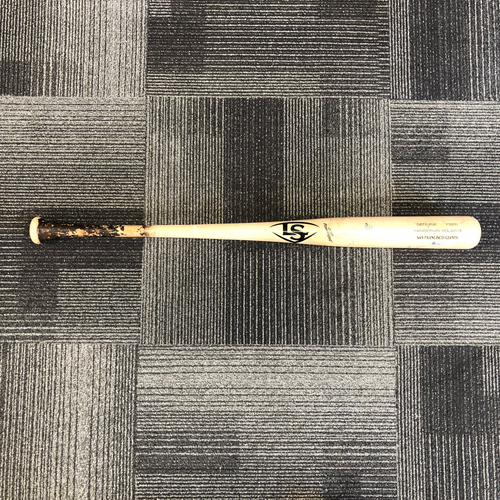 Photo of 2019 Game Used Broken Bat - #22 Yangervis Solarte used on 4/8 vs. San Diego Padres - B-8: Craig Stammen to Yangervis Solarte - Ground Out to 2nd Base