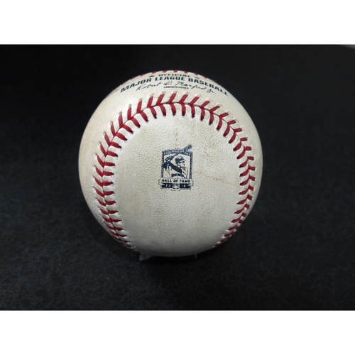 Photo of Game-Used Baseball - Pitcher: Colin Poche, Batter: Mallex Smith (Foul) - 8/10/19 vs. TB