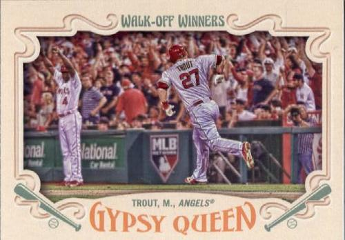 Photo of 2016 Topps Gypsy Queen Walk Off Winners #GWO9 Mike Trout