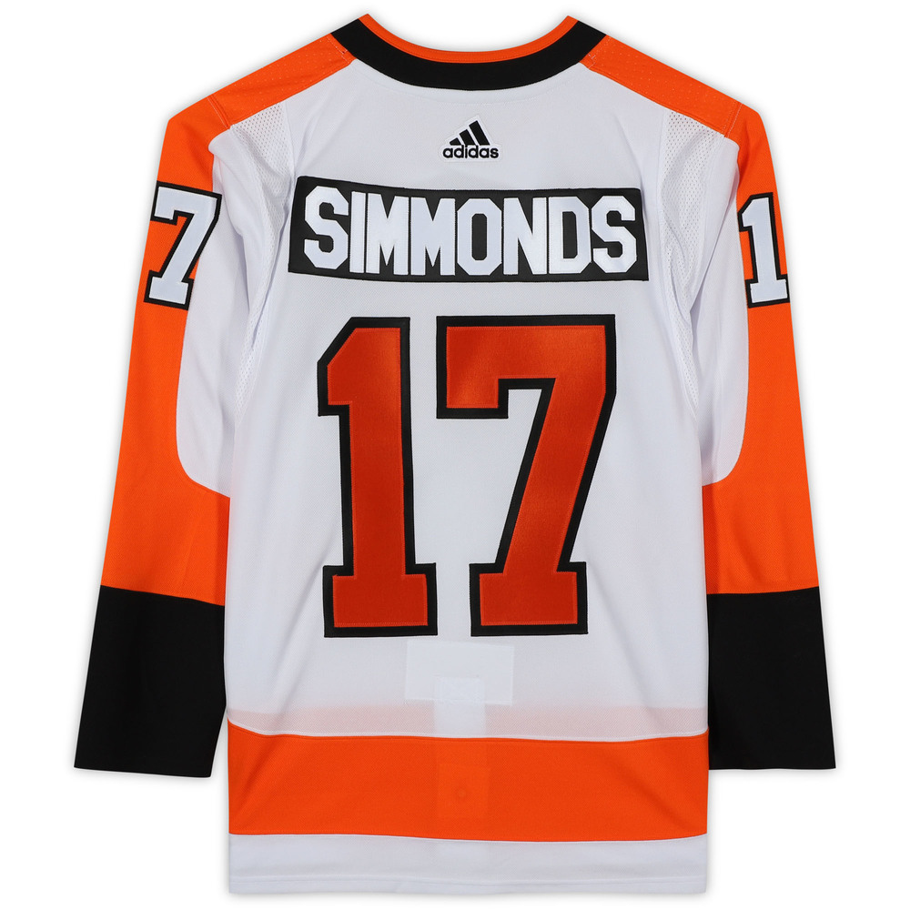 Wayne Simmonds Philadelphia Flyers Unsigned White Adidas Authentic Jersey
