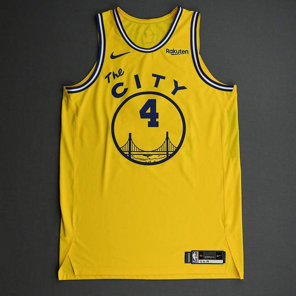 Image of Omari Spellman - Golden State Warriors - Game-Worn Classic Edition 1966-67 Home Jersey - 2019-20 NBA Season