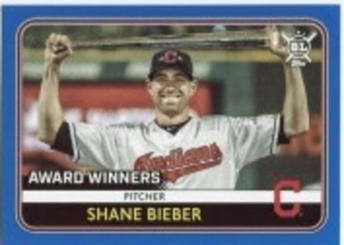 Photo of 2020 Topps Big League Blue #273 Shane Bieber AW