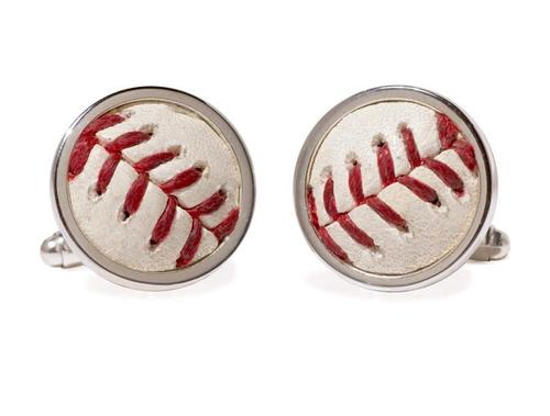 Photo of Toronto Blue Jays Game Used Baseball Cuff Links by Tokens & Icons