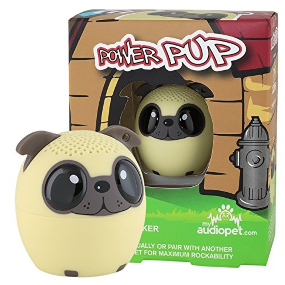 Photo of My Audio Pet Mini Bluetooth Animal Wireless Speaker with True Wireless Stereo Technology - Pair with Another TWS Pet for Powerful Rich Room-Filling Sound - (Power Pup)