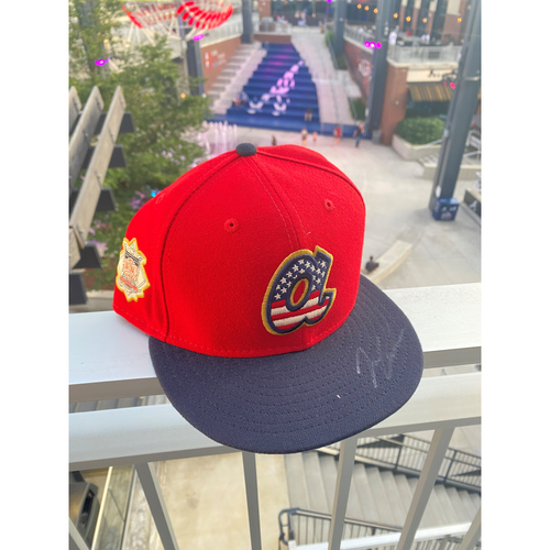 Photo of Ian Anderson MLB Authenticated Autographed 2019, 4th of July Hat
