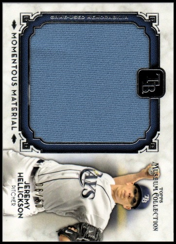 Photo of 2014 Topps Museum Collection Momentous Material Jumbo Relics #MMJRJH Jeremy Hellickson