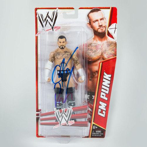 CM Punk SIGNED Mattel Signature Series 2012 Action Figure