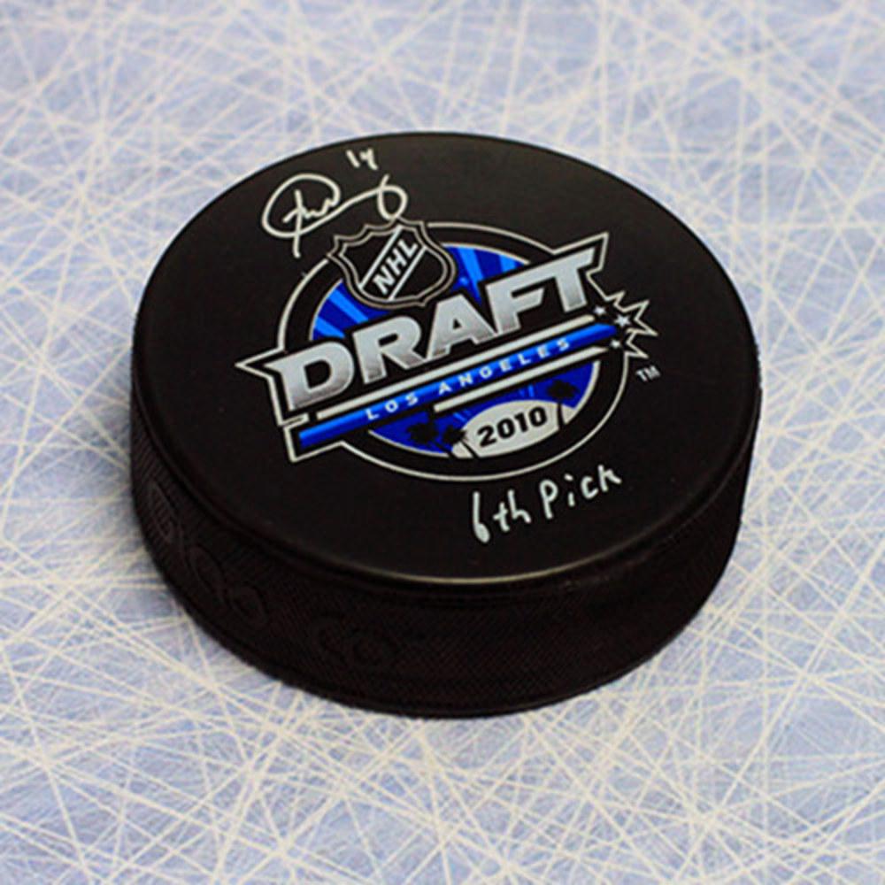Brett Connolly 2010 NHL Draft Day Autographed Puck w/ 6th Pick Inscription *Washington Capitals*