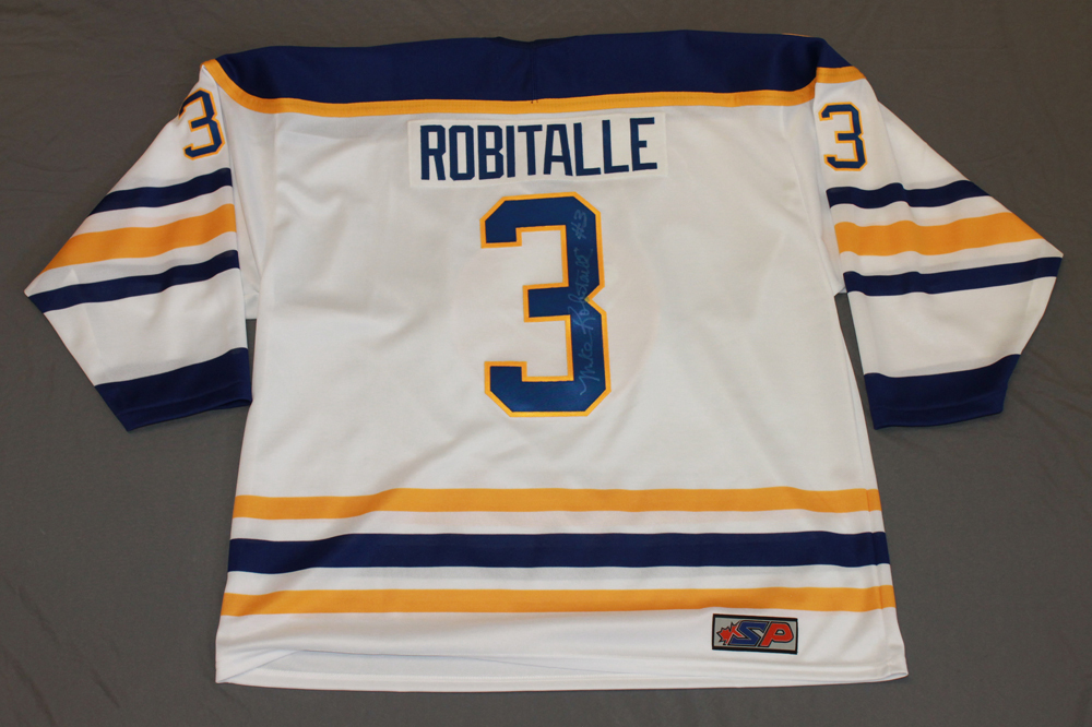 Mike Robitaille Autographed Buffalo Sabres Breast Cancer Awareness Jersey