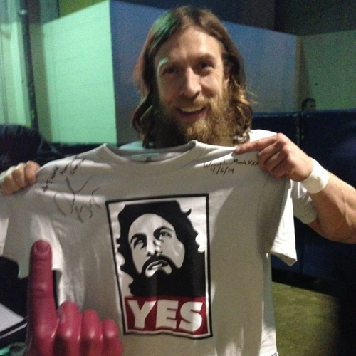 """Daniel Bryan WORN & SIGNED """"YES Movement"""" Authentic T ..."""