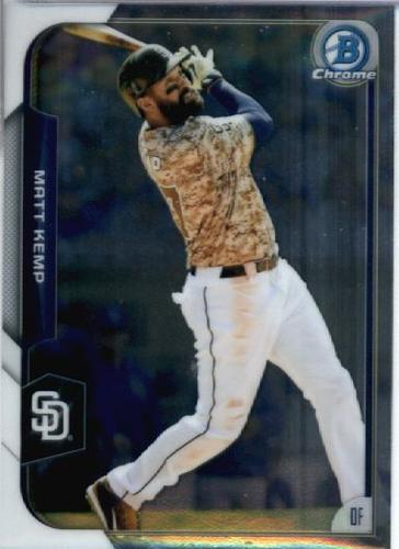 Photo of 2015 Bowman Chrome #116 Matt Kemp