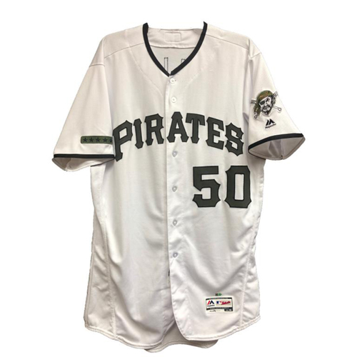 Photo of 2018 Game-Used Jameson Taillon Camo Home Jersey