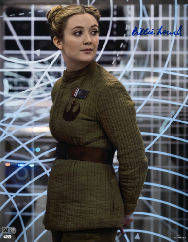 Billie Lourd As Lieutenant Connix 11X14 AUTOGRPAHED IN 'BLUE' INK PHOTO