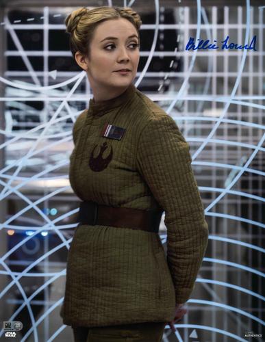 Billie Lourd As Lieutenant Connix 11X14 AUTOGRPAHED IN 'BLUE' INK PHOTO