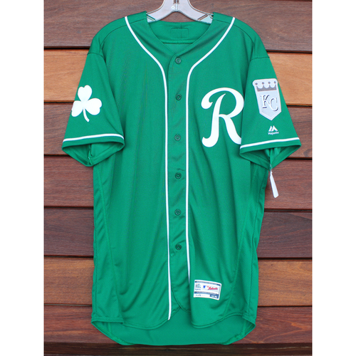 Team-Issued St. Patrick's Day Jersey: Corey Toups (Size - 44)