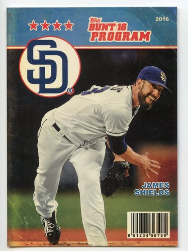 Photo of 2016 Topps Bunt Programs #P24 James Shields