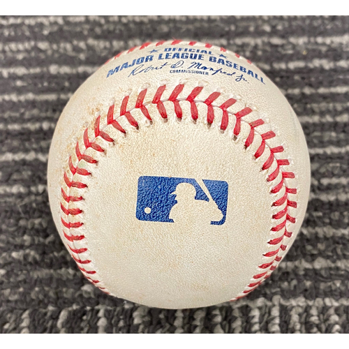 Photo of 2019 Game Used Baseball - San Francisco Giants vs. Tampa Bay Rays on 4/6 - T-6: Sam Dyson to Kevin Kiermaier - Single to SS
