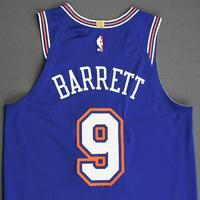 RJ Barrett - New York Knicks - Kia NBA Tip-Off 2019 - Game-Worn 1st Half Statement Edition Jersey - NBA Debut