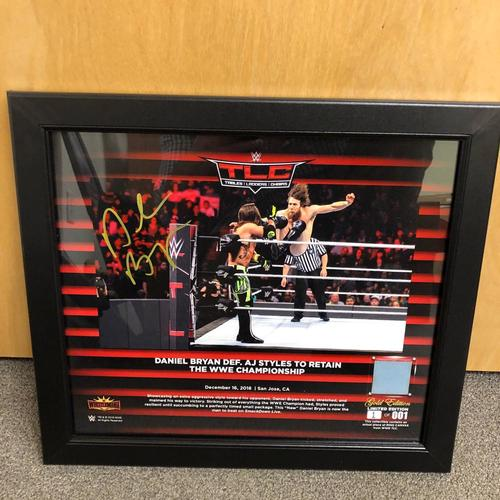 Photo of Daniel Bryan SIGNED TLC 2028 Gold Edition Ring Canvas Plaque (#1 of 1)