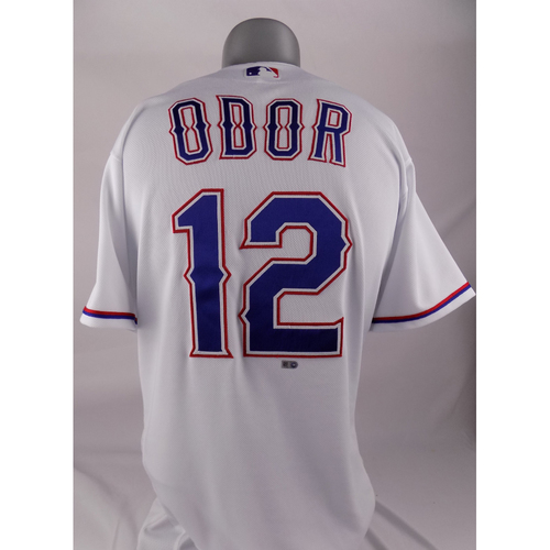 Photo of Team-Issued White Jersey - Rougned Odor - 2019