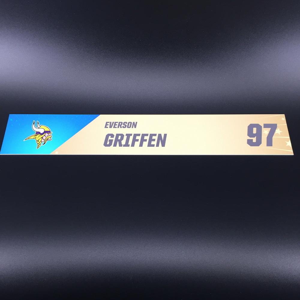 NFL - Vikings Everson Griffen Pro Bowl 2020 Locker Room Name Plate