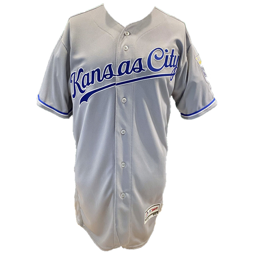 Photo of Kansas City Royals Team-Issued Majestic Jersey - Grey - Choose Your Size!