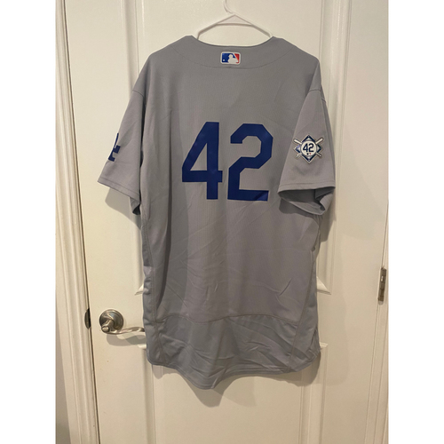 Caleb Ferguson Authentic Game-Used Jersey from 8/28/20 Game @ TEX - Size  48