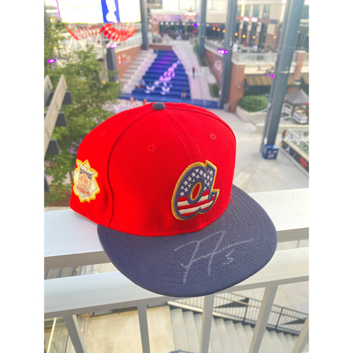 Photo of Freddie Freeman MLB Authenticated Autographed 2019, 4th of July Hat