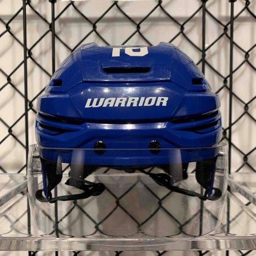 #16 Mitch Marner Worn Blue Warrior Helmet