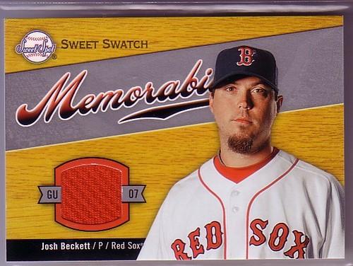 Photo of 2007 Sweet Spot Sweet Swatch Memorabilia #BE Josh Beckett