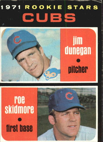 Photo of 1971 Topps #121 Rookie Stars/Jim Dunegan RC/Roe Skidmore RC