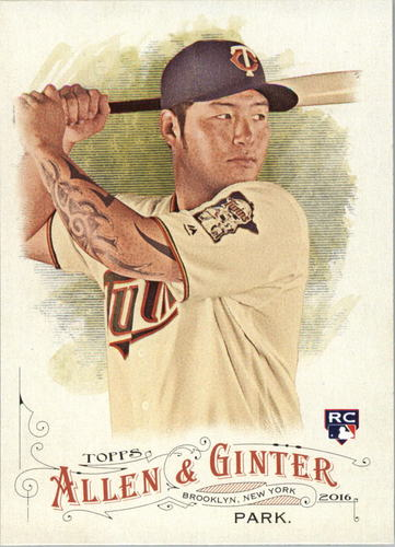 Photo of 2016 Topps Allen and Ginter #201 Byung Ho Park RC