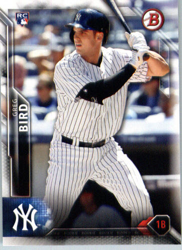 Photo of 2016 Bowman #132 Greg Bird Rookie Card