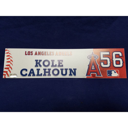 Photo of Kole Calhoun Game-Used Locker Tag