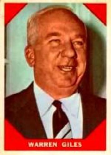 Photo of 1960 Fleer #73 Warren Giles -- Hall of Fame Class of 1979