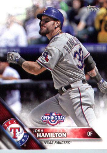 Photo of 2016 Topps Opening Day #OD102 Josh Hamilton
