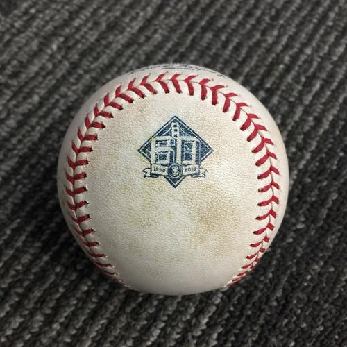 Photo of 2018 San Francisco Giants - Game Used Baseball vs. Houston Astros on 8/7/18 - Yulieski Gurriel Single to CF, Marwin Gonzalez Fly Out & Tyler White Foul Ball