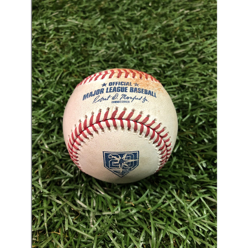 Photo of 20th Anniversary Game Used Baseball: Niko Goodrum single and John Hicks foul ball off Hunter Wood - July 11, 2018 v DET